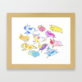 Fearless Flying Frenchies - French Bulldogs Framed Art Print