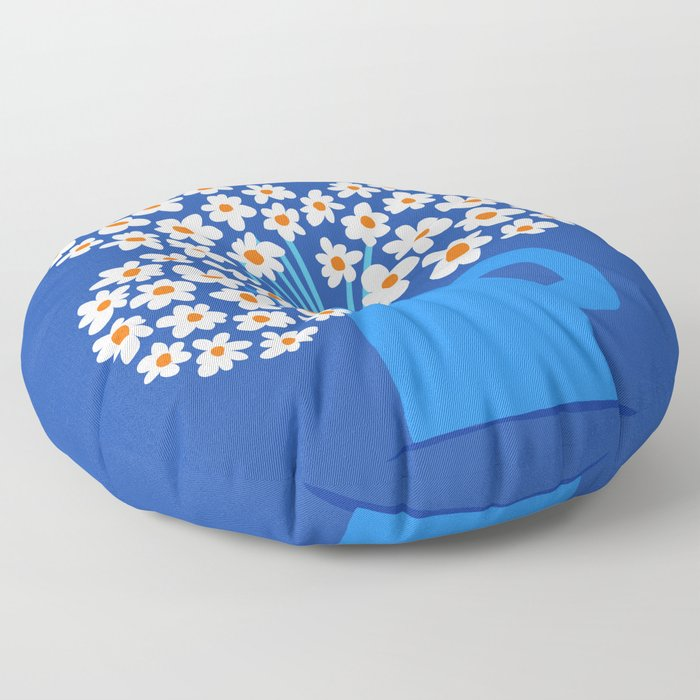 Abstraction_FLORAL_Blossom_001 Floor Pillow