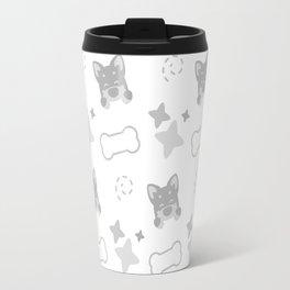 Burrito Puppy, Playful Pattern Travel Mug