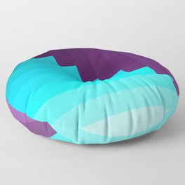 Ups and Down | Deep Within | Purple | Blue | Turquoise Floor Pillow