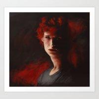 matchstick Art Print