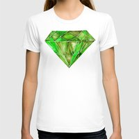 geode T-shirts featuring Peridot by Cat Coquillette