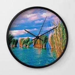 Through the reeds Wall Clock