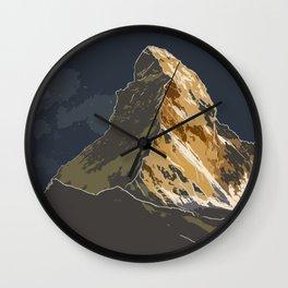 Midnight Matterhorn Wall Clock