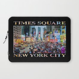 Times Square Sparkle (with type on black) Laptop Sleeve