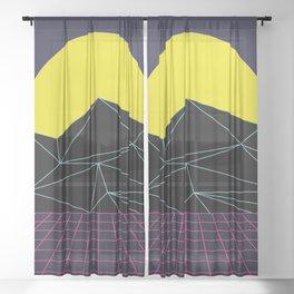 Outrun to the Sun / 80s Retro Sheer Curtain