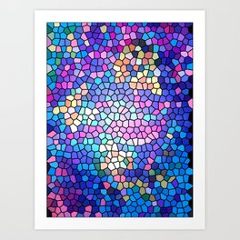 Stained glass effect Art Print