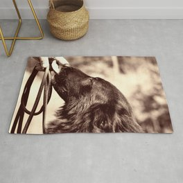 The love of a dog to man Rug