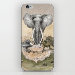 Elephant tea time iPhone Skin