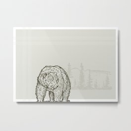 Lodge series - Bear Metal Print