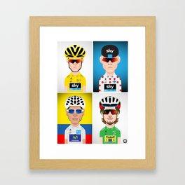 Tour de France 2016 Jerseys Framed Art Print