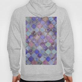 Royal Purple, Mauve & Indigo Decorative Moroccan Tile Pattern Hoody