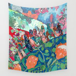 Floral Migrant Quilt Wall Tapestry