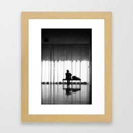 New York MOMA Silhouette in Black & White Framed Art Print