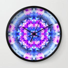 Fractured Light Mandala Wall Clock