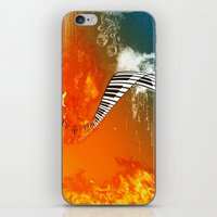 piano iPhone & iPod Skins featuring Piano by nicky2342