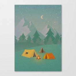 Mountain Camp Canvas Print