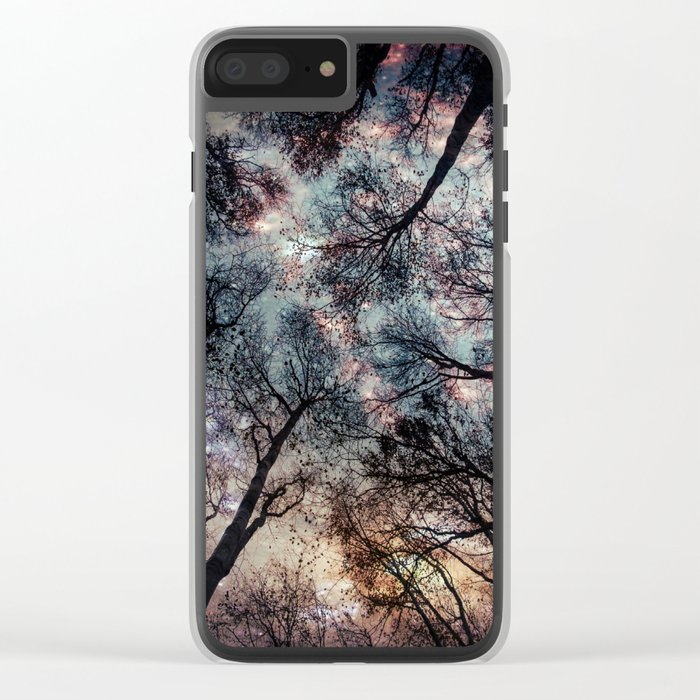 Starry Sky in the Forest Clear iPhone Case