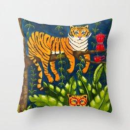 The Jungle Tiger Throw Pillow