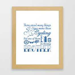 Cycling Brother Framed Art Print