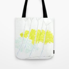Trees and sunshine Tote Bag