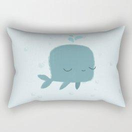 happy whale Rectangular Pillow