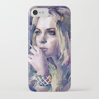 "lindsay lohan iPhone & iPod Cases featuring ""Lindsay Lohan"" by Emma Reznikova"
