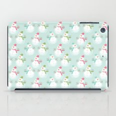 Adorable Christmas Snowmen Pattern iPad Case