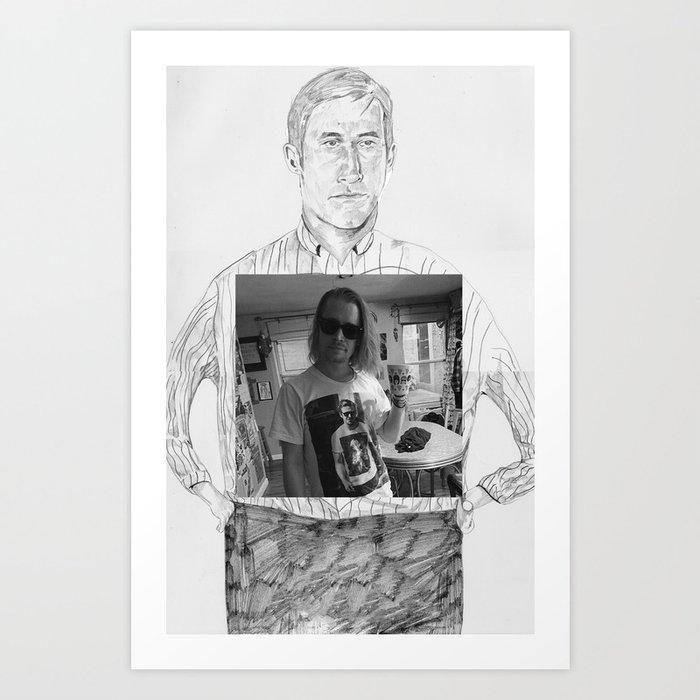 Ryan Gosling wearing Macaulay Culkin wearing Ryan Gosling wearing Macaulay Culkin  Art Print