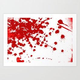 Red Splatter Art Print