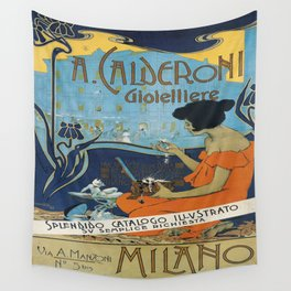 Vintage poster - A. Calderoni Gioielliere Wall Tapestry