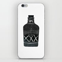 alcohol iPhone & iPod Skins featuring Alcohol Bottle xxx by matteolasi
