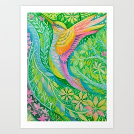 Hummer Art Print