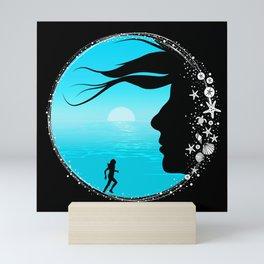 By The Sea Mini Art Print