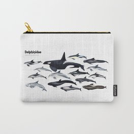 Delphinidae: Dolphin family Carry-All Pouch