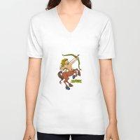 sagittarius V-neck T-shirts featuring Sagittarius by Antoons