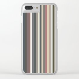 Record Spines Clear iPhone Case