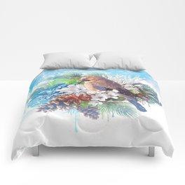 Floral Winter Magic Comforters