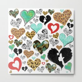 Cross My Heart Metal Print