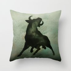 TRK - Bull Throw Pillow