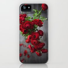 Red, Red Ranunculus Slim Case iPhone (5, 5s)