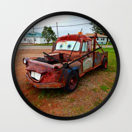 Tribute Build to Tow Mater Wall Clock