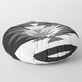 Aztec - black and white Floor Pillow