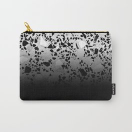 Concrete and Marble Mix Black Gradient Carry-All Pouch