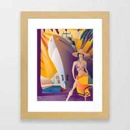 Boat Show Girl Framed Art Print
