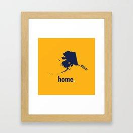 Alaska Proud Framed Art Print