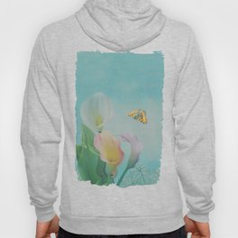 Painterly Calla flowers and leaves Hoody