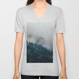 The Foggy Forest (Color) Unisex V-Neck