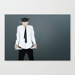 Out of School and Out of Work Canvas Print