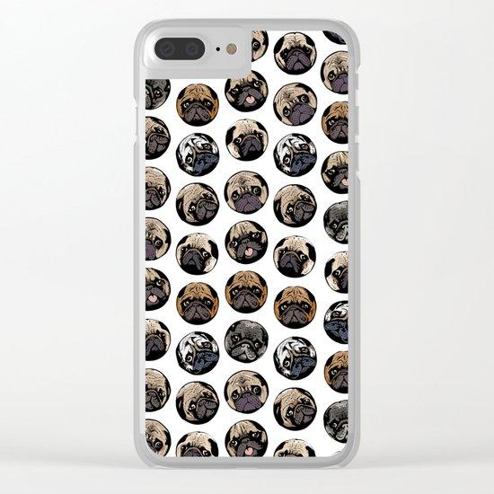 Pugka Dot Clear iPhone Case